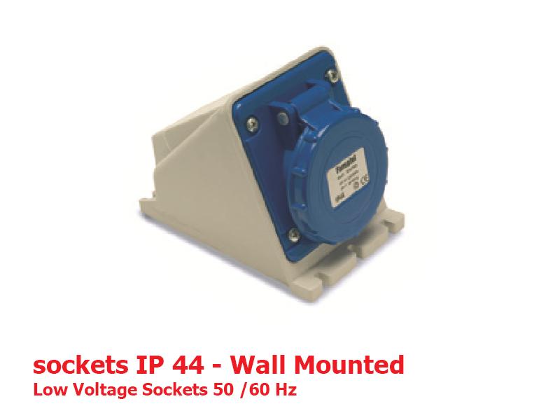 سوکتهای دیواری IP44