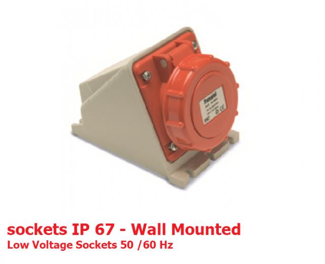 سوكتهای دیواری IP67