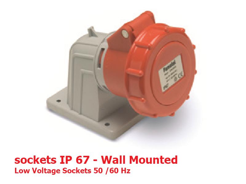 سوکتهای دیواری IP67